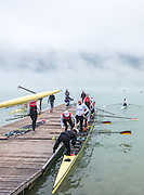 Aiguebelette, FRANCE,   General View GER W8+ boating  2015 FISA World Rowing Championships, Venue, Lake Aiguebelette - Savoie. <br /> <br /> Friday  04/09/2015  [Mandatory Credit. Peter SPURRIER/Intersport Images]. © Peter SPURRIER, Atmospheric, Rowing
