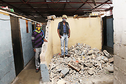 South Africa - Durban - 16 July 2020 - Residents of a building that is being demolished by their landlord are crying foul that they are being evicted and do not have alternative accommodation. The landlord says he is just following orders as given by eThekwini Municipality<br /> Picture: Doctor Ngcobo/African News Agency(ANA)