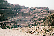 Roman amphitheatre at the archaeological site at Petra, Jordan in 1998