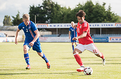 RHYL, WALES - Saturday, September 2, 2017: Wales' Daniel Mooney during an Under-19 international friendly match between Wales and Iceland at Belle Vue. (Pic by Gavin Trafford/Propaganda)