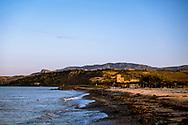 16-10-2015 -  Foto: Verdura Resort strand. Genomen tijdens een persreis met de Rocco Forte Invitational op Verdura Golf & Spa Resort in Sciacca (Agrigento), Italië.