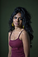 Rising Indian star writer Meena Kandasamy, pictured at the Edinburgh International Book Festival where she talked about her debut novel entitled 'Gypsy Goddess'. The three-week event is the world's biggest literary festival and is held during the annual Edinburgh Festival. The 2014 event featured talks and presentations by more than 500 authors from around the world and was the 31st edition of the festival.