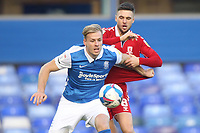 Middlesbrough's Lewis Wing in action with  Birmingham City's Marc Roberts<br /> <br /> Photographer Mick Walker/CameraSport<br /> <br /> The EFL Sky Bet Championship - Birmingham City v Middlesbrough - Saturday 19th December 2020 - St Andrews - Birmingham<br /> <br /> World Copyright © 2020 CameraSport. All rights reserved. 43 Linden Ave. Countesthorpe. Leicester. England. LE8 5PG - Tel: +44 (0) 116 277 4147 - admin@camerasport.com - www.camerasport.com