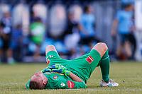 Fotball , 1. juli 2018 , Eliteserien<br /> Sandefjord - Rosenborg<br /> Tap for Sandefjord<br /> Eirik Holmen Johansen, Sandefjord<br /> Foto: Christoffer Hansen , Digitalsport