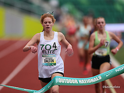 2021 High School Nationals<br /> NSAF Outdoor Track and Field Championship<br /> Freshman Girls Mile winner 4:55.18<br /> 704 Elite TC, NC