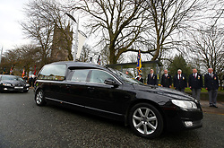 The funeral procession during the funeral service for Gordon Banks at Stoke Minster.