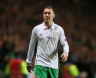 Aiden McGready of Ireland  - UEFA Euro 2016 Qualifier - Scotland vs Republic of Ireland - Celtic Park Stadium - Glasgow - Scotland - 14th November 2014  - Picture Simon Bellis/Sportimage