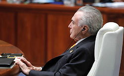 September 4, 2017 - Xiamen, China - September 4, 2017. - China, Xiamen. - Brazilian President Michel Temer at the BRICS leaders expanded meeting with the participation of the delegations..Credit: RussianLook/face to face.- Germany, Austria, Switzerland and USA rights only  (Credit Image: © face to face via ZUMA Press)