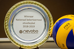 20-04-2019 NED: Dirk Kuyt Foundation Cup, Veenendaal<br /> National Cup sitting volleyball in Veenendaal / Winners scale