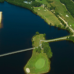 Aerial view of Unusual Golf Hole in New jersey