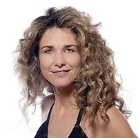 beautiful caucasian woman attractive portrait isolated studio on white background