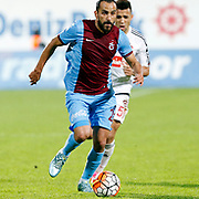 Trabzonspor's Erkan Zengin during their Turkish Super League match Trabzonspor between Gaziantepspor at the Avni Aker Stadium at Trabzon Turkey on Wednesday, 28 October 2015. Photo by Aykut AKICI/TURKPIX