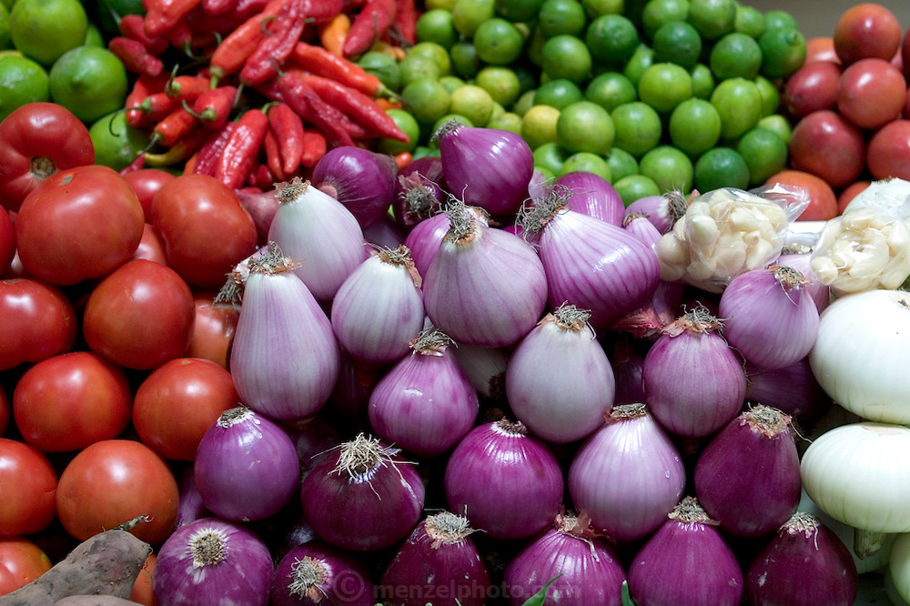 Vegetables in the Santa Carolina Market, Quito, Ecuador. (Supporting image from the project Hungry Planet: What the World Eats.)