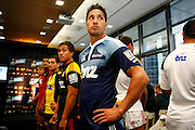 Blues No10 Steve Brett. Super 14 rugby union. 2010 Rebel Sport Super 14 New Zealand squads naming press conference. Auckland, New Zealand. Wednesday 11 November 2009. © Copyright Photo: www.photosport.nz