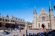 Uitreiking Willems-Orde aan Roy de Ruiter door Koning Willem Alexander Majoor-vlieger Roy de Ruiter kreeg op het binnenhof de Militaire Willems-Orde opgespeld, de hoogste dapperheidsonderscheiding van het koninkrijk.<br /> <br /> Presentation William the Order to Roy de Ruiter by King Willem Alexander Major-flyer Roy de Ruiter received the Military William Order on the courtyard, the highest prowess award of the kingdom.<br /> <br /> Op de foto / On the Photo: