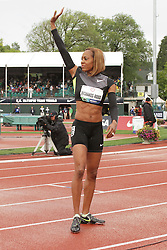 Olympic Trials Eugene 2012: women's 400 meters semifinal, Sanya Richards-Ross waves to crowd