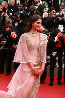Sonam Kapoor at the Foxcatcher gala screening red carpet at the 67th Cannes Film Festival France. Monday 19th May 2014 in Cannes Film Festival, France.