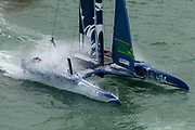 SailGP Team USA helmed by Rome Kirby. Event 4 Season 1 SailGP event in Cowes, Isle of Wight, England, United Kingdom. 8 August 2019: Photo Chris Cameron for SailGP. Handout image supplied by SailGP
