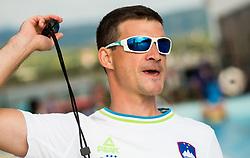 Luka Berdajs, coach during practice session of Slovenian Swimming National Team, on June 7, 2017 in Zusterna, Koper / Capodistria, Slovenia. Photo by Vid Ponikvar / Sportida