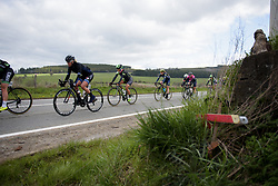 Charlotte Becker and Rossella Ratto in the bunch at the Liege-Bastogne-Liege Femmes - a 135.5 km road race between Bastogne and Ans on April 23 2017 in Liège, Belgium.
