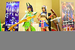 April 26, 2017 - Hangzhou, Hangzhou, China - Hangzhou, CHINA-April 25 2017: (EDITORIAL USE ONLY. CHINA OUT)..The cosplayers. The 13th China International Cartoon & Animation Festival is held from April 26th to May 1st in Hangzhou, east China's Zhejiang Province. (Credit Image: © SIPA Asia via ZUMA Wire)
