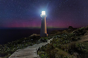 The Mother's Day Aurora Australis (May 8th, 2016) during a G3 geomagnetic storm, at Castlepoint Lighthouse, New Zealand