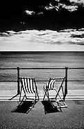 Empty Deck Chairs Sidmouth Devon Britain - 2012