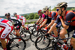 Ziga Groselj (SLO) of KK Adria Mobil, David Per (SLO) of Bahrain-Merida and Borut Bozic (SLO) of Bahrain-Merida during Stage 1 of 24th Tour of Slovenia 2017 / Tour de Slovenie from Koper to Kocevje (159,4 km) cycling race on June 15, 2017 in Slovenia. Photo by Vid Ponikvar / Sportida