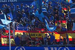 October 29, 2017 - Getafe, Spain - Getafe CF fans show flags of Spain during the La Liga Santander match between Getafe CF and Real Sociedad at Coliseum Alfonso Perez stadium on october 29, 2017 in Getafe, Spain  (Credit Image: © Mateo Villalba/NurPhoto via ZUMA Press)