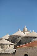 Agia Paraskevi Church building exterior against clear sky, Paphos, Cyprus