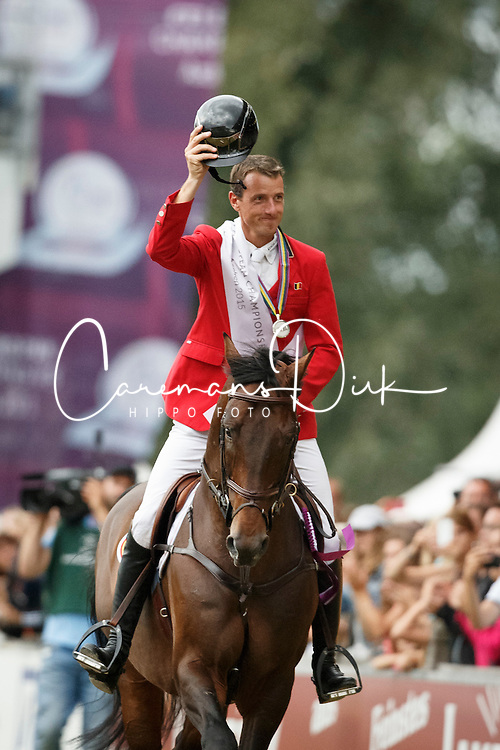 Wathelet Gregory, (BEL), Conrad de Hus<br /> Gold medal winner<br /> Individual Final Competition<br /> FEI European Championships - Aachen 2015<br /> © Hippo Foto - Dirk Caremans<br /> 23/08/15
