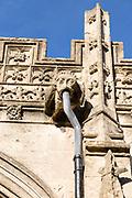 Stonework gargoyle detail Parish Church of Saint John the Baptist, Devizes, Wiltshire, England, UK