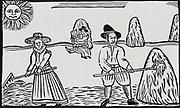 Haymaking.  Early 17th ewntury woodcut.