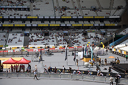 Riders make their way into the stadium at La Course High Speed Pursuit 2017 - a 22.5 km pursuit road race on July 22, 2017, in Marseille, France. (Photo by Sean Robinson/Velofocus.com)
