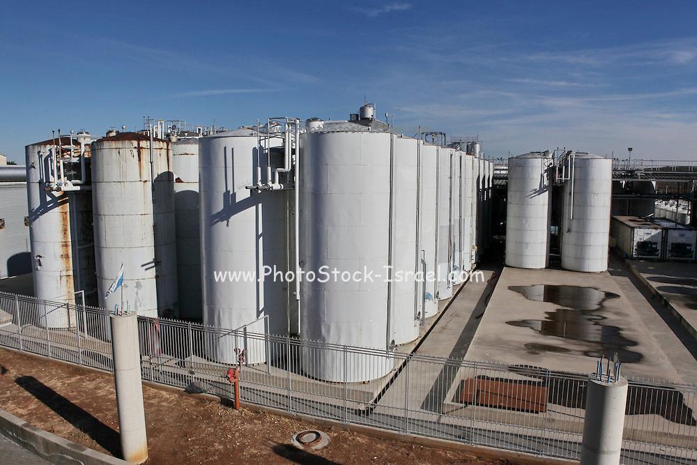 Israel, Barkan Winery. Metal fermentation vats
