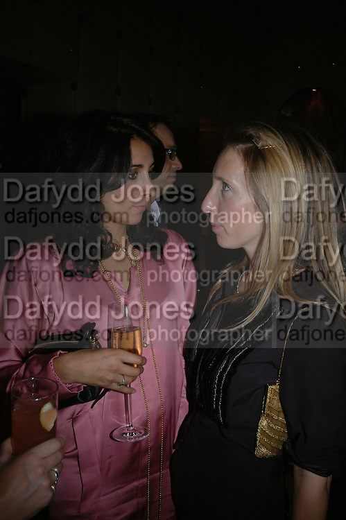 Serena Rees and Sam taylor Wood. Jay Jopling and White Cube host a post Frieze opening party at Sketch. London. 20 October 2005. ONE TIME USE ONLY - DO NOT ARCHIVE © Copyright Photograph by Dafydd Jones 66 Stockwell Park Rd. London SW9 0DA Tel 020 7733 0108 www.dafjones.com