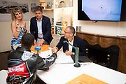 August 15, 2019:  Monterey Car Week, Skyler Grey, Aventador S artist, Stefano Domenicali, CEO of Lamborghini