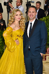 Amanda Seyfried and Thomas Sadoski attending the Costume Institute Benefit at The Metropolitan Museum of Art celebrating the opening of Heavenly Bodies: Fashion and the Catholic Imagination. The Metropolitan Museum of Art, New York City, New York, May 7, 2018. Photo by Lionel Hahn/ABACAPRESS.COM