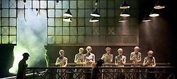 English National Ballet <br /> Triple Bill<br /> at Sadler's Wells, London, Great Britain <br /> rehearsal <br /> 7th September 2015 <br /> <br /> No Man's Land <br /> <br /> by Liam Scarlett <br /> <br /> Alina Cojocaru <br /> <br /> <br /> Erina Takahashi <br /> <br /> Crystal Costa <br /> <br /> and company <br /> <br /> <br /> Photograph by Elliott Franks <br /> Image licensed to Elliott Franks Photography Services
