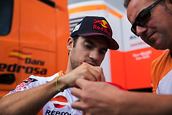 September 7, 2017 - San Marino, RN, Italy - Dani Pedrosa of Repsol Honda Team sign autographs before the presentation press conference of the Tribul Mastercard Grand Prix of San Marino and Riviera di Rimini, at Misano World Circuit ''Marco Simoncelli'', on September 07, 2017 in Misano Adriatico, Italy  (Credit Image: © Danilo Di Giovanni/NurPhoto via ZUMA Press)