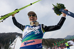 AMMANN Simon, RG Churfirsten, SUI  reacts after winning the Flying Hill Individual Fourth Round and became World Champion 2010 at 3rd day of FIS Ski Flying World Championships Planica 2010, on March 20, 2010, Planica, Slovenia.  (Photo by Vid Ponikvar / Sportida)