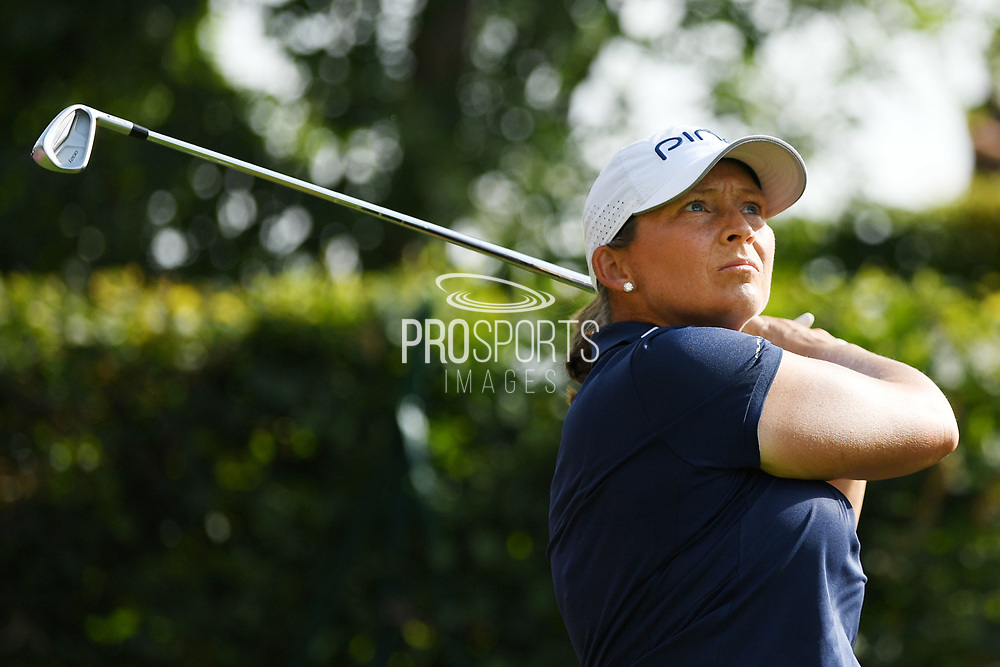 Angela Stanford (Usa) competes and wins during the final round of LPGA Evian Championship 2018, Day 7, at Evian Resort Golf Club, in Evian-Les-Bains, France, on September 16, 2018, Photo Philippe Millereau / KMSP / ProSportsImages / DPPI