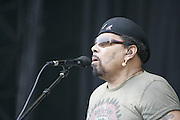 June 17, 2006; Manchester, TN.  2006 Bonnaroo Music Festival. The Neville Brothers performs at Bonnaroo 2006.  Photo by Bryan Rinnert