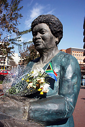 826<br /> 05/06/2011<br /> The Statue of the Late Mama Albertina Sisulu that was erected at crn Ntemi Piliso and Market street.<br /> Picture: Motshwari Mofokeng