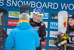 Selina Joerg (GER) winner  during Final Run at Parallel Giant Slalom at FIS Snowboard World Cup Rogla 2019, on January 19, 2019 at Course Jasa, Rogla, Slovenia. Photo byJurij Vodusek / Sportida
