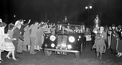 File photo dated 04/05/60 of crowds around the car conveying Princess Margaret, Lord Snowdon and the Queen Mother, as the former husband of Princess Margaret has died peacefully at his home on Friday aged 86, a family spokesman has said.