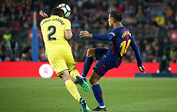 May 9, 2018 - Barcelona, Catalonia, Spain - Philippe Coutinho and Mario Gaspar during the match between FC Barcelona and Villarreal CF, played at the Camp Nou Stadium on 09th May 2018 in Barcelona, Spain. (Credit Image: © Joan Valls/NurPhoto via ZUMA Press)