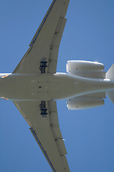 Aeroplane undercarriage engine jet airliner close