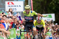 Giovanni Visconti (ITA) of Neri Sottoli Selle Italia KTM celebrates victory during 4th Stage of 26th Tour of Slovenia 2019 cycling race between Nova Gorica and Ajdovscina (153,9 km), on June 22, 2019 in Slovenia. Photo by Matic Klansek Velej / Sportida