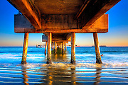 Under the Long Beach Pier HDR Fine Art Photo